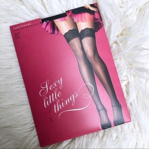 cbf1588b098 Victoria s Secret. NWT VS Lacetop Thigh High Black Hose